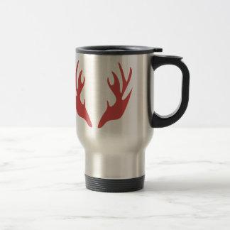 save antler deer christmas holiday travel mug