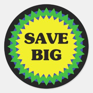 SAVE BIG Retail Sale Sticker