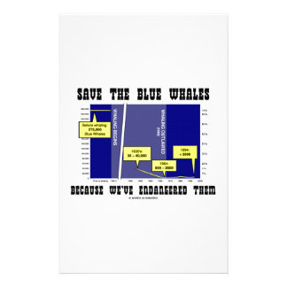 Save Blue Whales Because We've Endangered Them Stationery