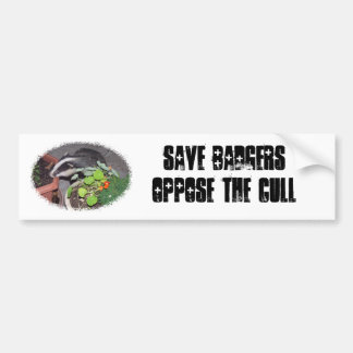 Save British Badgers, oppose the badger cull Bumper Sticker