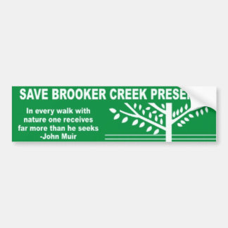 Save Brooker Creek Preserve Bumper Sticker