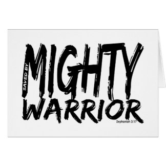 Save by Mighty Warrior Greeting Cards