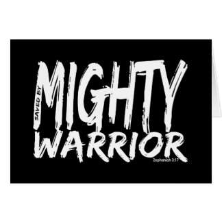 Save by Mighty Warrior Greeting Card