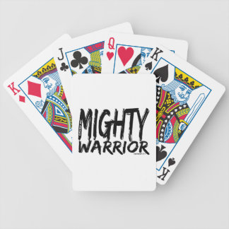 Save by Mighty Warrior Poker Deck