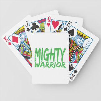 Save by Mighty Warrior Poker Cards