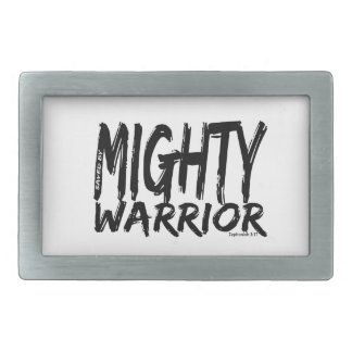 Save by Mighty Warrior Rectangular Belt Buckles