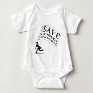 Save CA School Libraries Merchandise Baby Bodysuit