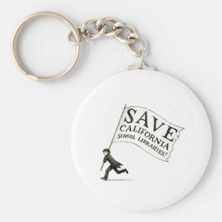Save CA School Libraries Merchandise Basic Round Button Keychain