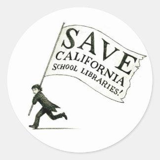 Save CA School Libraries Merchandise Classic Round Sticker