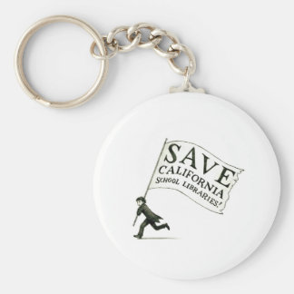 Save CA School Libraries Merchandise Keychain