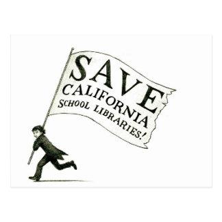 Save CA School Libraries Merchandise Postcard