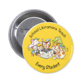 Save California School Libraries - Aliki Yellow Pinback Button