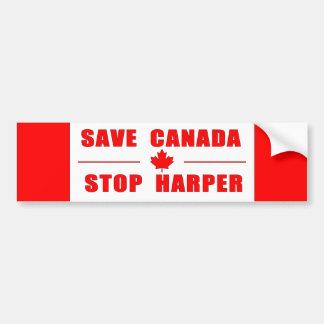 Save Canada - Stop Harper Bumper Sticker Car Bumper Sticker