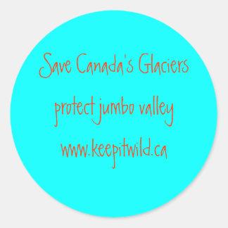 Save Canada's Glaciers Classic Round Sticker