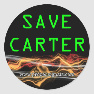 Save Carter stickers