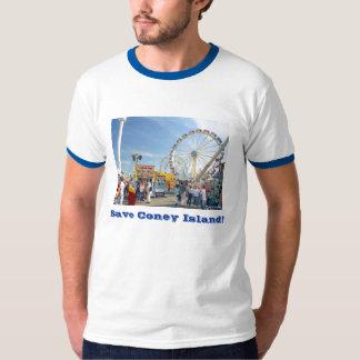 Save Coney Island! Adult Ringer T-shirt