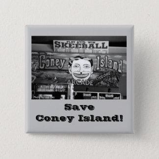 Save Coney Island! Square Button