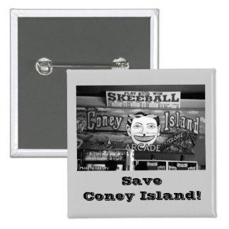 Save Coney Island Square Button