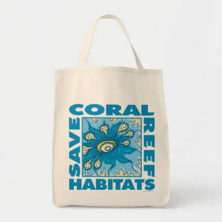 Save Coral Reefs Tote Bags