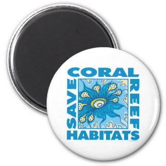 Save Coral Reefs Refrigerator Magnets