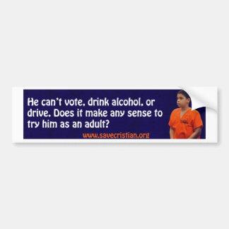 Save Cristian! Car Bumper Sticker
