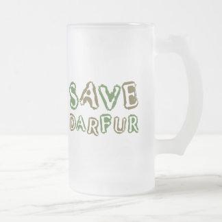 Save Darfur 1 16 Oz Frosted Glass Beer Mug