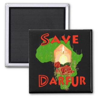 Save Darfur 2 Inch Square Magnet