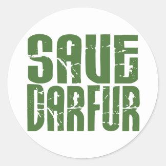 Save Darfur 4 Classic Round Sticker