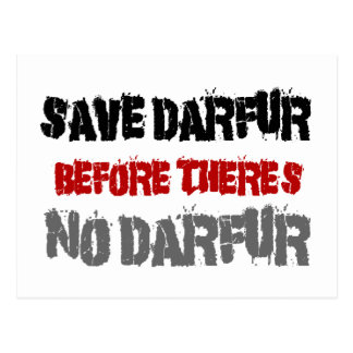 SAVE DARFUR BEFORE THERE'S NO DARFUR 2 POSTCARD