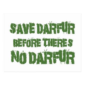 SAVE DARFUR BEFORE THERE'S NO DARFUR 4 POSTCARD