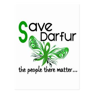 Save Darfur Butterfly 3.2 Postcard