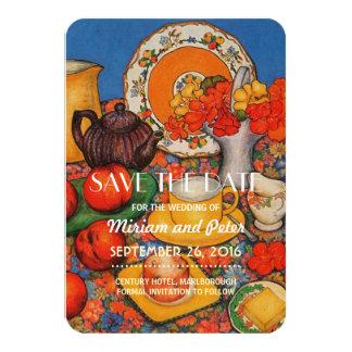 Save Date Nasturtiums Card