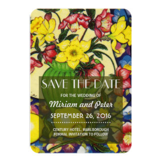Save Date Winter Blooms Hellebores Card