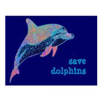 save dolphins postcard