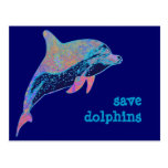save dolphins postcards