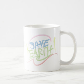 Save Earth! - Child's Art - Water Color Coffee Mug