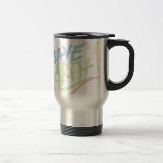 Save Earth! - Child's Art - Water Color Travel Mug