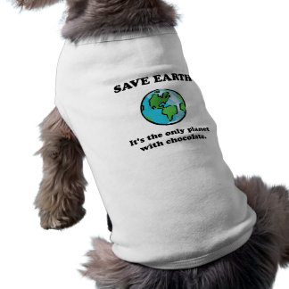 Save Earth Chocolate Pet Clothing