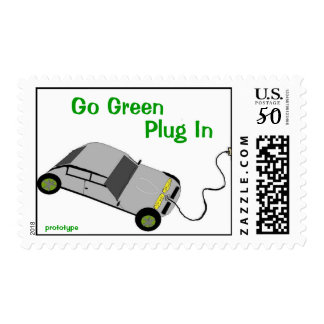 Save Earth Electric Car Postage