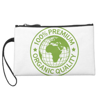 Save Earth Environment Globe Map Suede Wristlet Wallet
