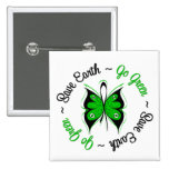Save Earth Go Green Butterfly Pin