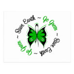 Save Earth Go Green Butterfly Post Card