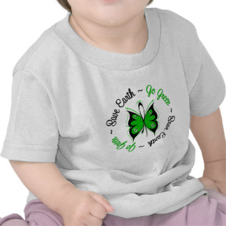 Save Earth Go Green Butterfly T-shirts