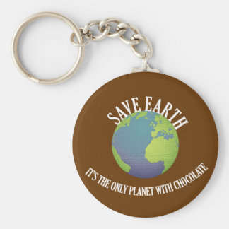 save earth it's the only planet with chocolate keychain