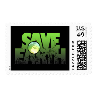 Save Earth Logotext Stamp