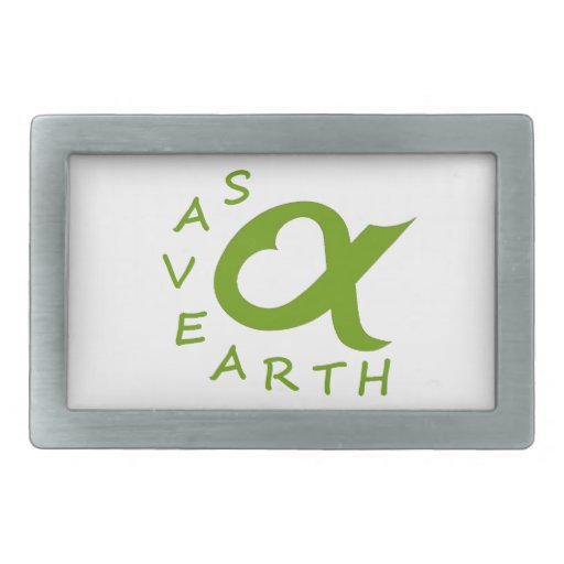 save earth planet rectangular belt buckle
