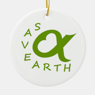 save earth planet ceramic ornament