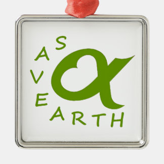 save earth planet metal ornament