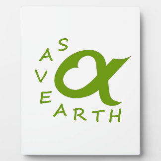 save earth planet plaque