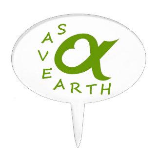 save earth planète étiquettes à gâteau